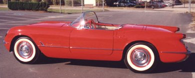 1955 Red Convertible Corvette