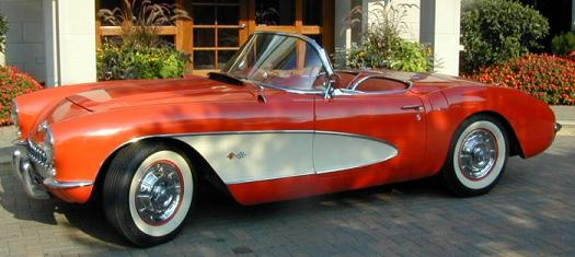 1957 Red Convertible Corvette