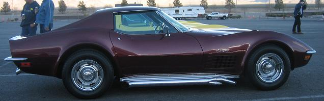1972 Maroon Corvette Coupe