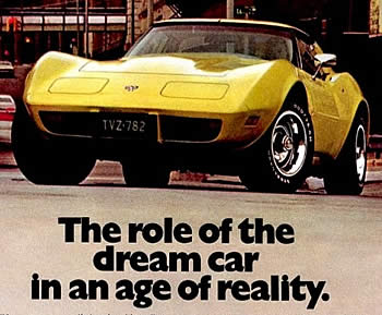 1977 Yellow Corvette Ad