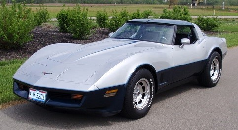 1981 Silver Two-Tone Corvette Coupe