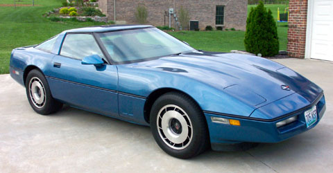 1985 Blue Corvette Coupe