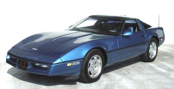 1988 Blue Corvette Coupe