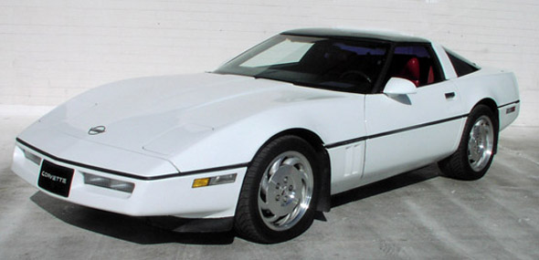 1989 White Corvette Coupe