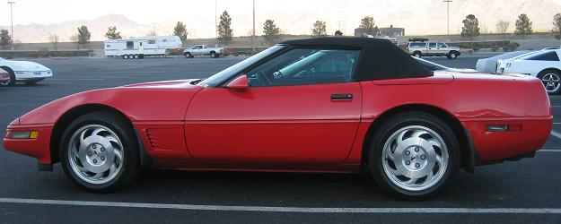 1994 Red Convertible Corvette