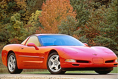1997 Red Corvette Coupe