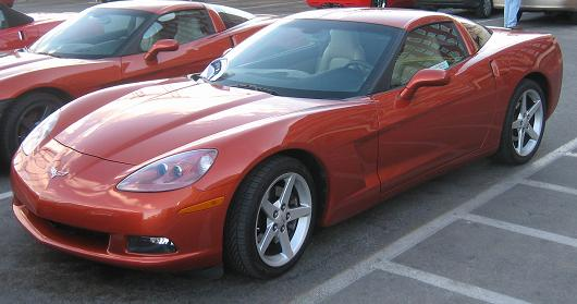 2005 Orange Corvette Coupe