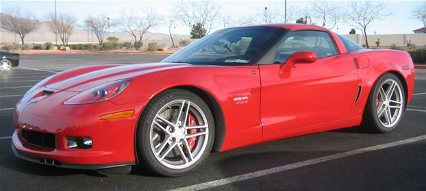 2006 Red Chevrolet Corvette Z06