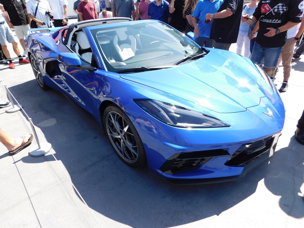 2020 Blue Corvette Mid-Engine Stingray Coupe